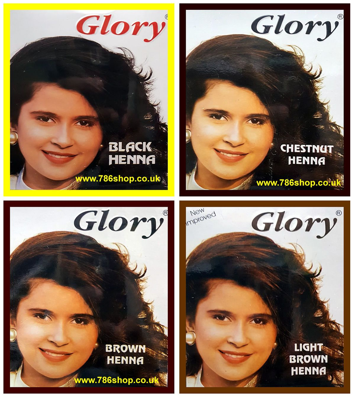 Glory Henna Hair Colour Dye Best Selling Brand New 6x10g Sachets Halal